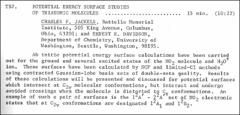 Thumbnail of POTENTIAL ENERGY SURFACE STUDIES OF TRIATOMIC MOLECULES