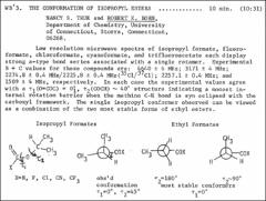 Thumbnail of THE CONFORMATION OF ISOPROPYL ESTERS