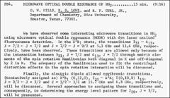 Thumbnail of MICROWAVE OPTICAL DOUBLE RESONANCE OF $NH_{2}$